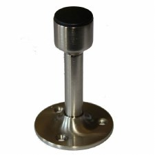 Heavy Duty Skirting Door Stop Satin Nickel