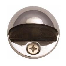 Heritage Oval Floor Mounted Door Stop V1080 Polished Nickel