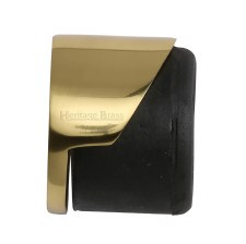Heritage Round Floor Mounted Door Stop V1088 Polished Brass