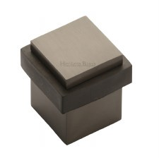 Heritage Floor Mounted Square Door Stop V1089 Matt Bronze