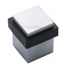 Heritage Floor Mounted Square Door Stop V1089 Satin Chrome