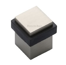Heritage Floor Mounted Square Door Stop V1089 Satin Nickel