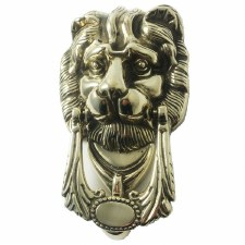 Lion Head Knocker 272 Polished Brass