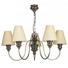 David Hunt DOR0500 Doreen 5 Light Chandelier Bronzed with Silk Shades