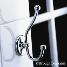 Samuel Heath N1039 Double Robe Hook Polished Chrome