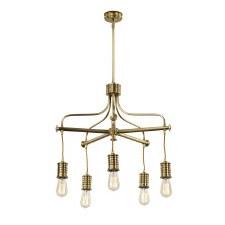 Elstead Douille Chandelier 5 Light Aged Brass