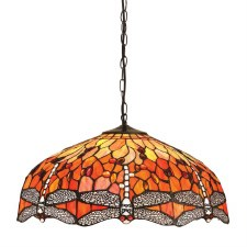 Interiors 1900 Dragonfly Flame Large Pendant 64082