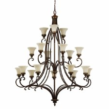 Feiss Drawing Room 18 Light Chandelier Walnut