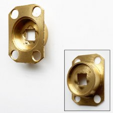Fixed-dead Spindle Plate 7814 Polished Brass