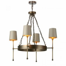 David Hunt DUR0475 Durrel 4 Light Pendant Antiqe Brass