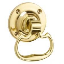 Croft Dutch Rim Drop Handle 1718R Polished Brass Unlacquered