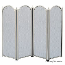Dynasty Folding Fire Screen Pewter