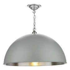 David Hunt EAL0139 Ealing Pendant Powder Grey 55cm