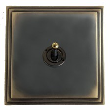 Edwardian Dolly Switch 1 Gang Dark Antique Relief
