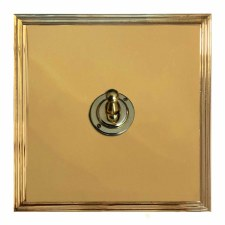Edwardian Dolly Switch 1 Gang Polished Brass Unlacquered