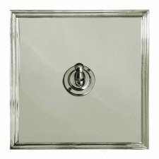 Edwardian Dolly Switch 1 Gang Polished Nickel