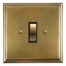 Edwardian Rocker Light Switch 1 Gang Antique Satin Brass