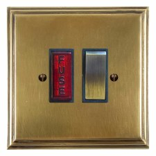 Edwardian Switched Fused Spur Illuminated Antique Satin Brass