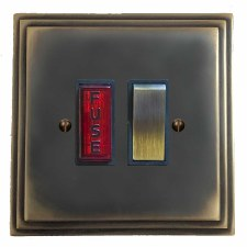 Edwardian Switched Fused Spur Illuminated Dark Antique Relief