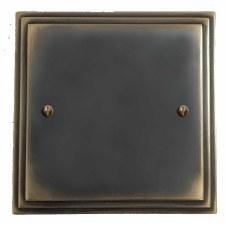 Edwardian Single Blank Plate Dark Antique Relief