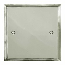 Edwardian Single Blank Plate Polished Nickel