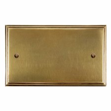 Edwardian Double Blank Plate Antique Satin Brass