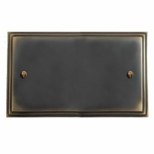 Edwardian Double Blank Plate Dark Antique Relief