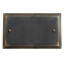 Edwardian Double Blank Plate Dark Antique Relief