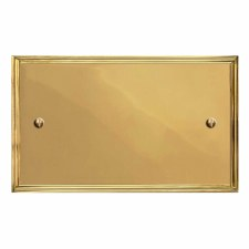 Edwardian Double Blank Plate Polished Brass Lacquered