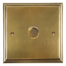 Edwardian Dimmer Switch 1 Gang Antique Satin Brass