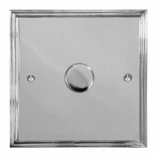 Edwardian Dimmer Switch 1 Gang Polished Chrome