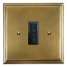 Edwardian Fused Spur Connection Unit 13 Amp Antique Satin Brass