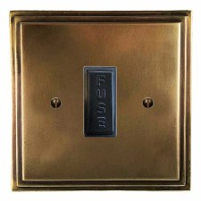 Edwardian Fused Spur Connection Unit 13 Amp Hand Aged Brass