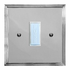 Edwardian Fused Spur Connection Unit 13 Amp Polished Chrome & White Trim