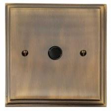Edwardian Flex Outlet Antique Brass Lacquered