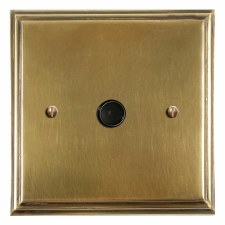 Edwardian Flex Outlet Antique Satin Brass