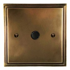 Edwardian Flex Outlet Hand Aged Brass