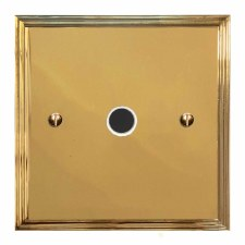 Edwardian Flex Outlet Polished Brass Lacquered & White Trim