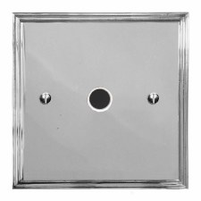 Edwardian Flex Outlet Polished Chrome & White Trim