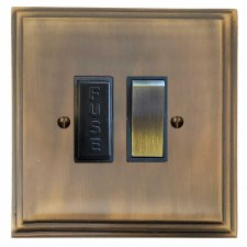 Edwardian Switched Fused Spur Antique Brass Lacquered