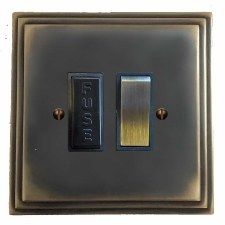 Edwardian Switched Fused Spur Dark Antique Relief