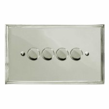 Edwardian Dimmer Switch 4 Gang Polished Nickel