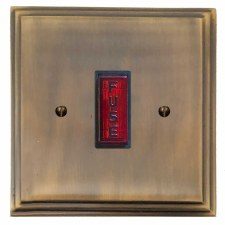 Edwardian Fused Spur Connection Unit Illuminated Indicator Antique Brass Lacquered