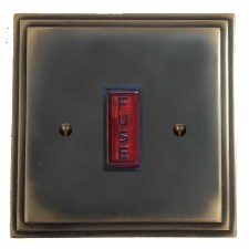 Edwardian Fused Spur Connection Unit Illuminated Indicator Dark Antique Relief
