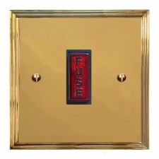Edwardian Fused Spur Connection Unit Illuminated Indicator Polished Brass Unlacquered