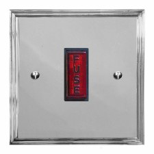 Edwardian Fused Spur Connection Unit Illuminated Indicator Polished Chrome & Black Trim
