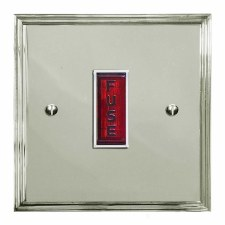 Edwardian Fused Spur Connection Unit Illuminated Indicator Polished Nickel