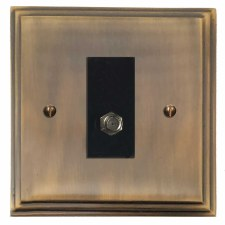 Edwardian Satellite Socket Antique Brass Lacquered
