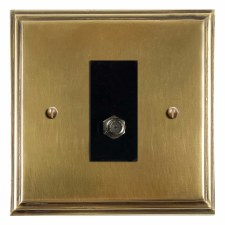Edwardian Satellite Socket Antique Satin Brass