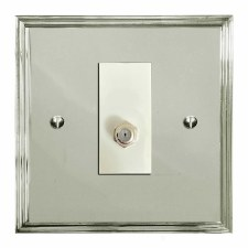 Edwardian Satellite Socket Polished Nickel